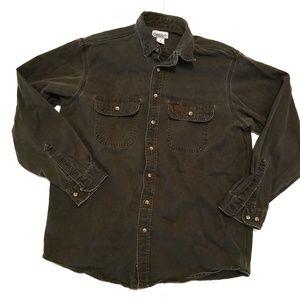 Carhartt Heavy Button Down Work Shirt Large Tall